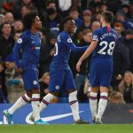 Callum Hudson-Odoi nets Chelsea's third goal against Burnley in their Premier League clash