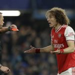 David Luiz has been thrown out of the match in his first Premier League game back in Stamford Bridge