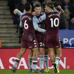 Aston Villa got an away goal during the first leg of their EFL Cup clash against Leicester