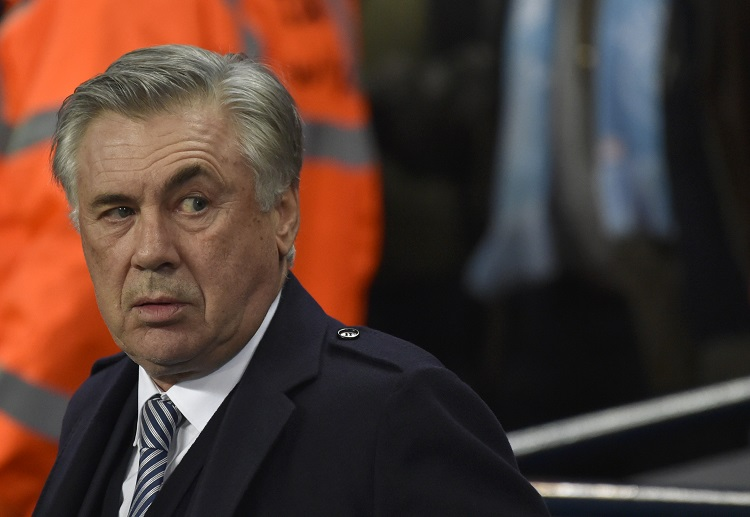 Everton's manager Carlo Ancelotti ready to take on a fantastic Merseyside derby challenge in the FA Cup