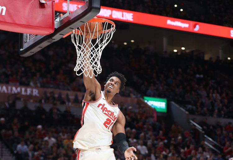 Hassan Whiteside hopes to continue winning for the Trail Blazers as they battle against the Heat in NBA