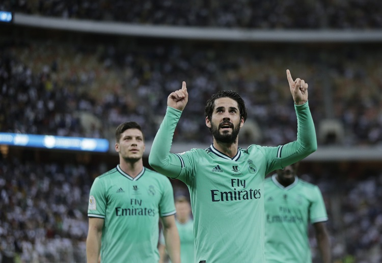Isco scores against Valencia allowing Real Madrid to advance to the Spanish Super Cup final
