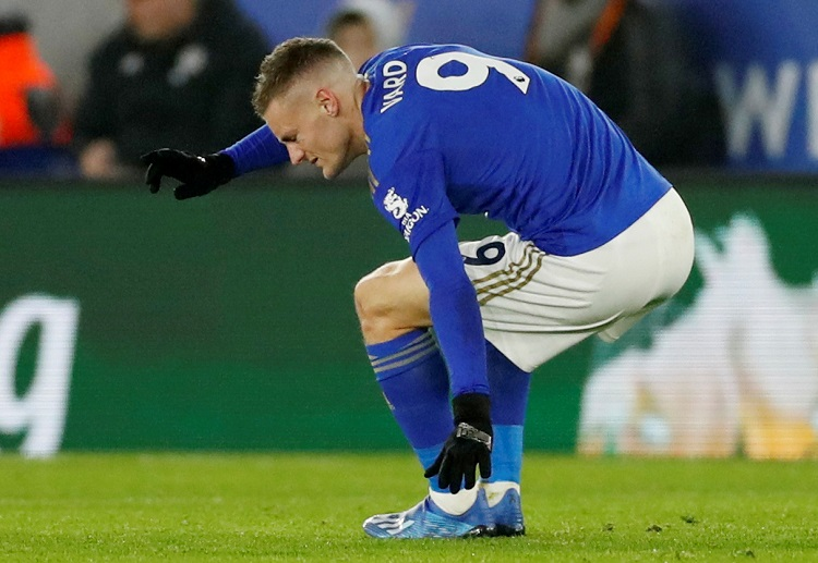 Jamie Vardy has suffered an injury during Leicester City's Premier League clash against West Ham United