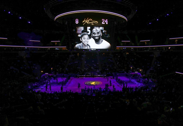 Several tributes were held in honour of Kobe Bryant in today's NBA games