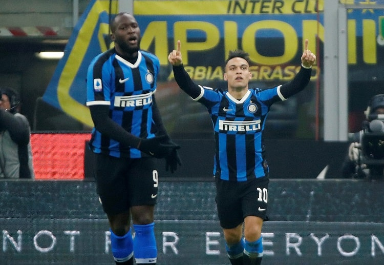 Lautaro Martinez hits an early first half goal for Inter Milan during their Serie A battle against Atalanta
