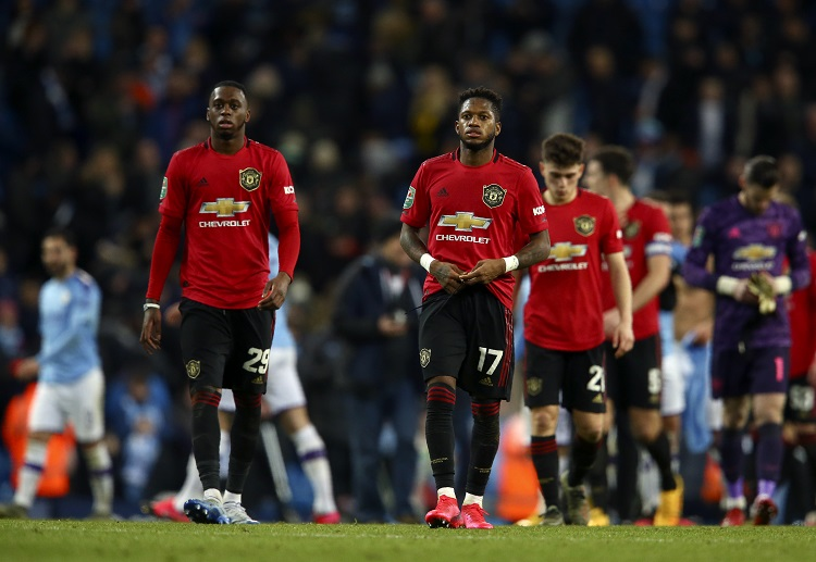 Manchester United look dejected as Manchester City advance to the final of EFL Cup to face Aston Villa