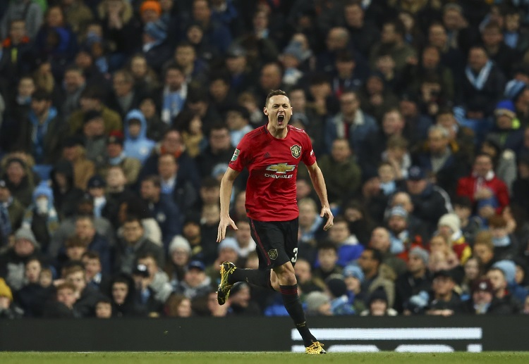 Nemanja Matic scored the only goal of the EFL Cup clash between Manchester United and Manchester City