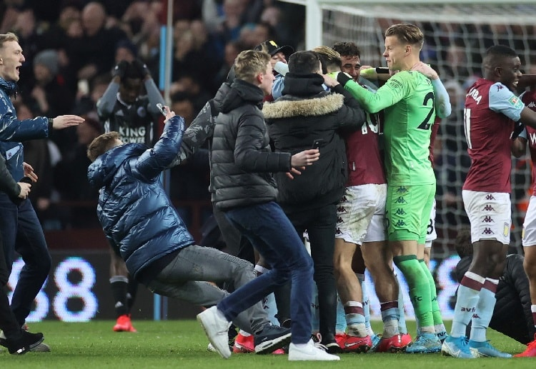 Orjan Nyland made crucial saves in order to keep Aston Villa's EFL Cup hopes alive