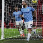 Sergio Aguero scored a late goal as Manchester City win Premier League match against Sheffield United