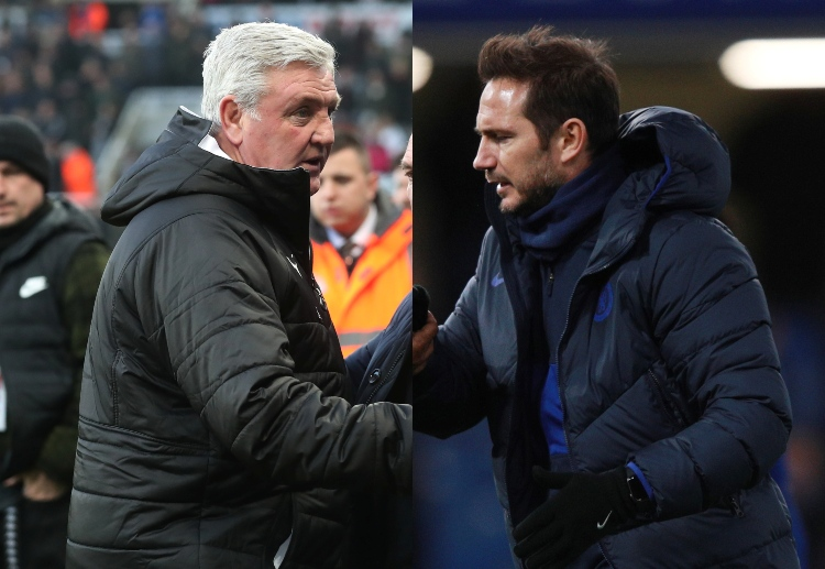 Steve Bruce and Frank Lampard are set to meet at St. James Park for their Premier League clash