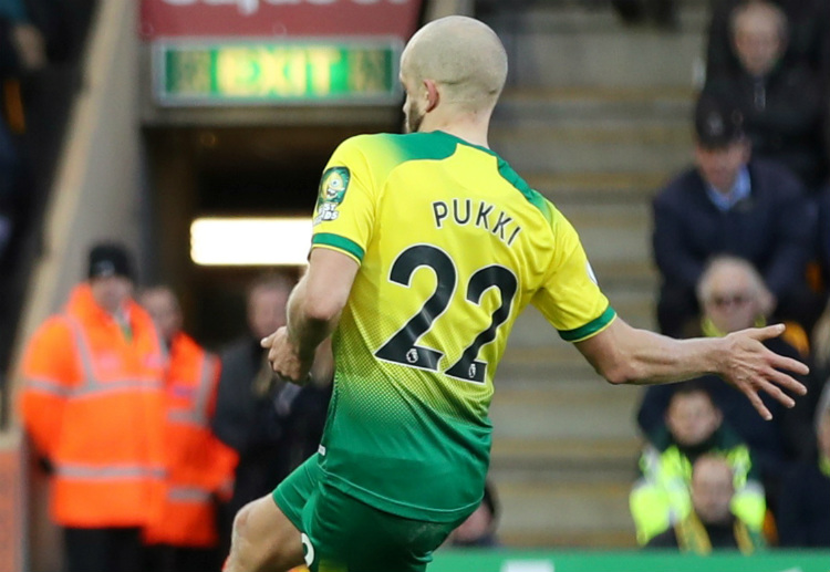 Teemu Pukki scored during the first half of Norwich City's Premier League match vs Bournemouth