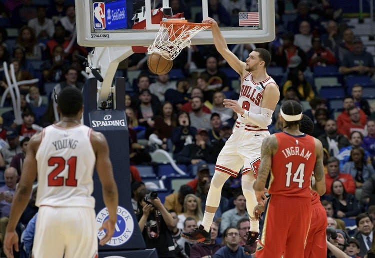 Zach Lavine will lead the Bulls to another NBA match, this time against the Pistons