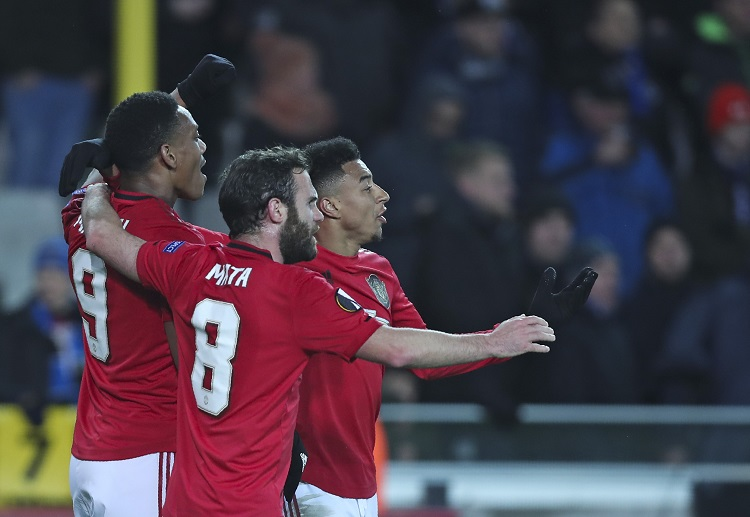 Manchester United will host Club Brugge in the second leg of their Europa League last-32 tie