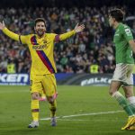 Leo Messi bail Barcelona last time out at Real Betis in La Liga
