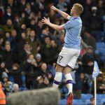 Kevin De Bruyne scores the second goal to lead his side to victory in Premier League Manchester City vs West Ham match