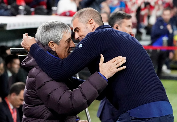 Quique Setien is still positive with Barcelona moving forward in the upcoming La Liga match against Real Betis
