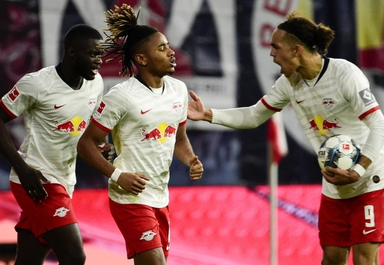 RB Leipzig's Christopher Nkunku scores a late equaliser to hinder Gladbach from winning in recent Bundesliga match