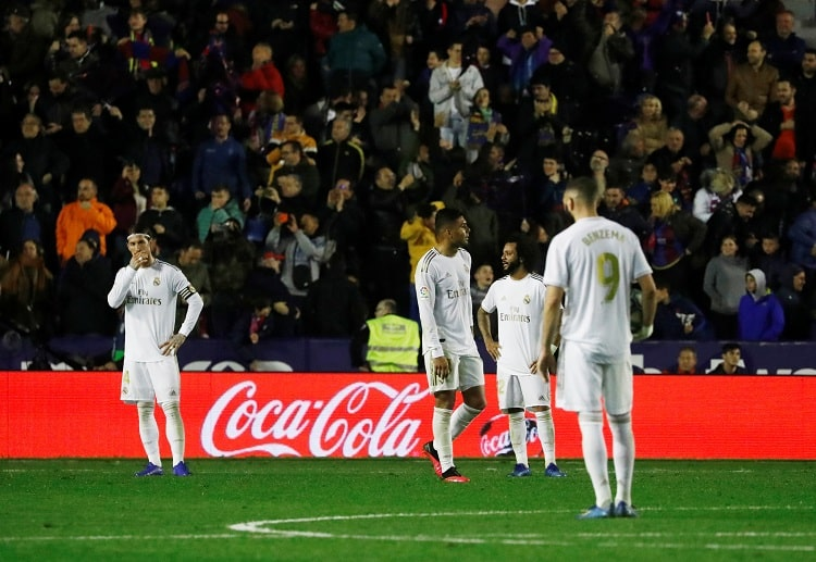 Real Madrid drop to second place in La Liga following shock loss to Levante
