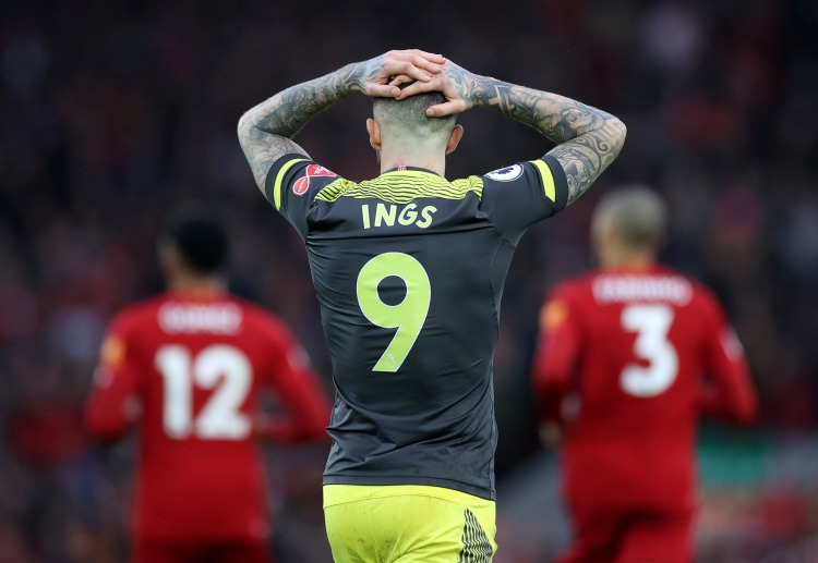 Dannys Ings has failed to hit a goal during the Premier League Liverpool vs Southampton match