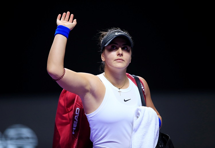 Bianca Andreescu aims for another Indian Wells Masters trophy as Kerber and Halep pull out due to injury