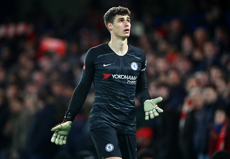 Kepa Arrizabalaga retuns to Chelsea's starting line-up for the FA Cup clash with Liverpool