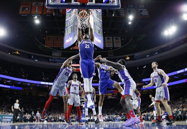 Joel Embiid put up a show in what might be one of the last NBA games this season