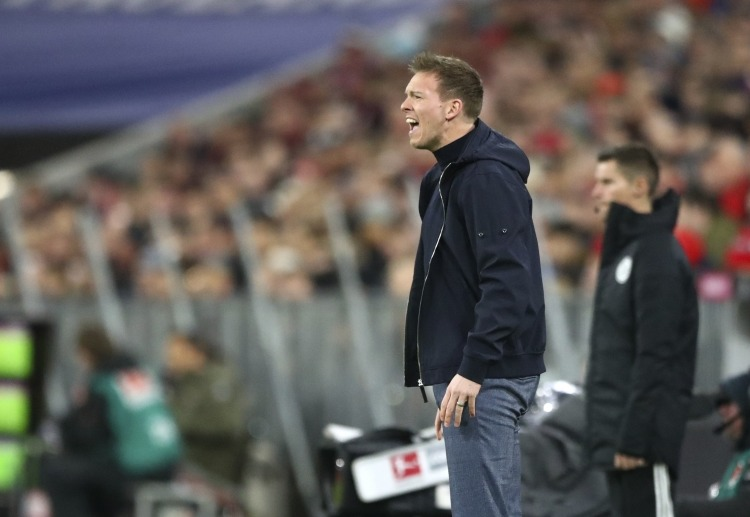 RB Leipzig boss Julian Nagelsmann is upset after falling to the third spot in Bundesliga table