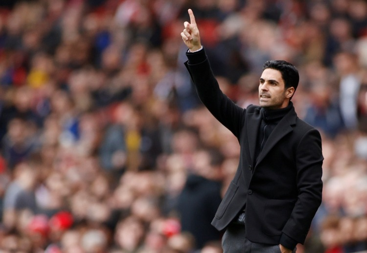 Arsenal manager Mikel Arteta celebrates following their 1-0 victory against West Ham in Premier League