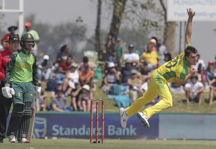 Patrick Cummins and the Australians will look to bounce back against South Africa in the three-match ODI series