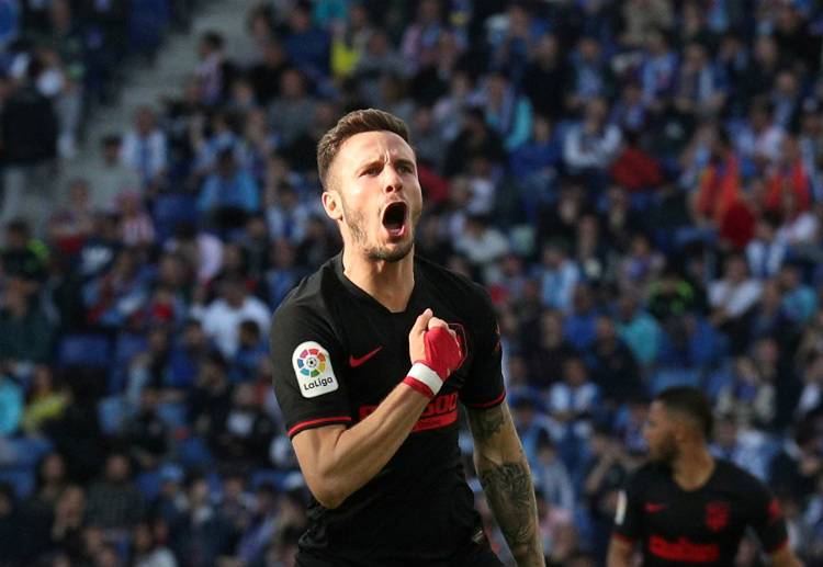 Saul Niguez scored during the first leg of Atletico Madrid's Champions League clash vs Liverpool