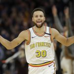 The whole NBA world were on their feet as two-time MVP Stephen Curry made his return to the hardwood