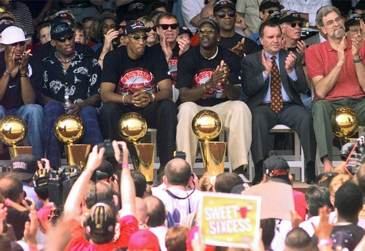Michael Jordan and the Bulls single-handedly dominated the NBA during the 90's