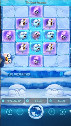 Break the blockers and save the baby penguin in the Great Icescape
