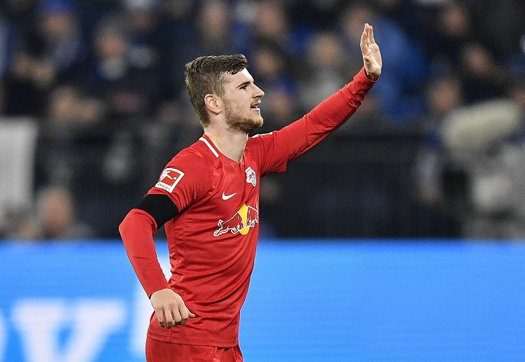 RB Leipzig's Timo Werner attempted the most shots (35) in Bundesliga this season following a ball carry in open play
