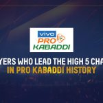 These are the five players with the most High 5s in the history of Pro Kabaddi.