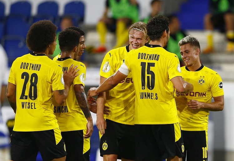 Borussia Dortmund will be hoping to stop Bayern from winning their ninth consecutive Bundesliga title.