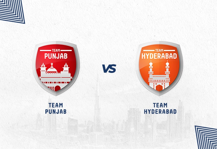 KXIP vs SRH has been won by Hyderabad more often.