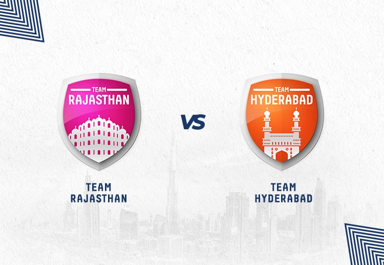 RR vs SRH are won equally by both teams.