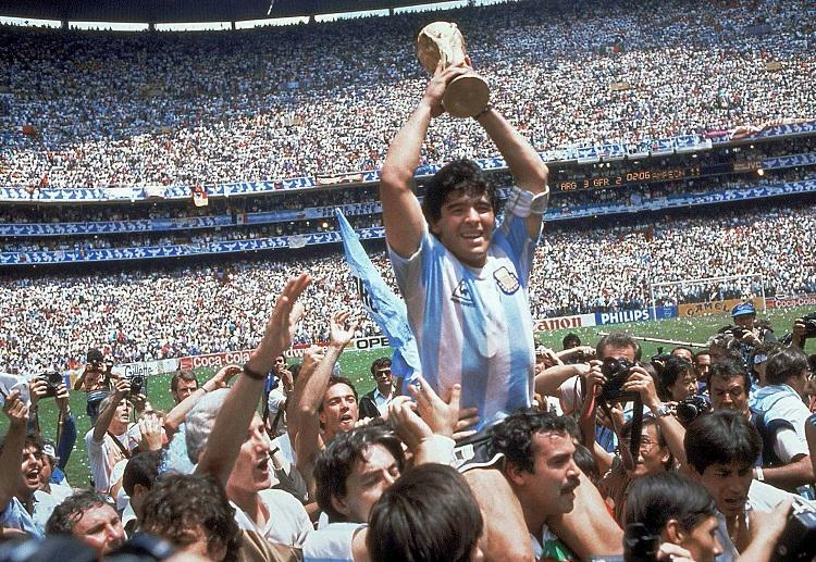 Diego Maradona helped Napoli win the Serie A title in 1987.