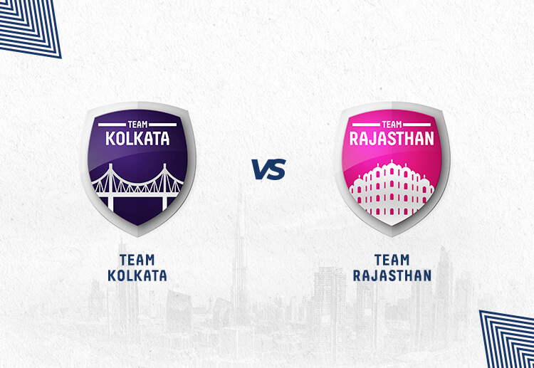 KKR vs RR has been won by Kolkata more often