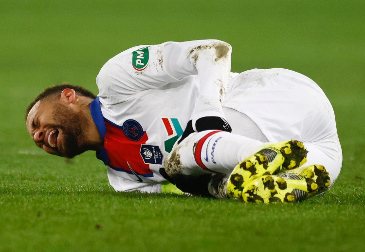 Neymar sustained a groin injury during the weekend and will miss the crucial Champions League game.