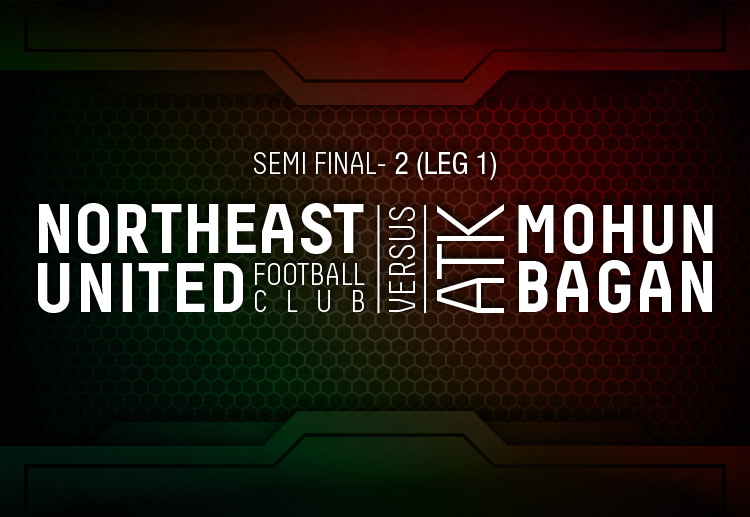 The second Hero ISL Semi-Final fixtures will be played between ATK Mohun Bagan and NorthEast United FC
