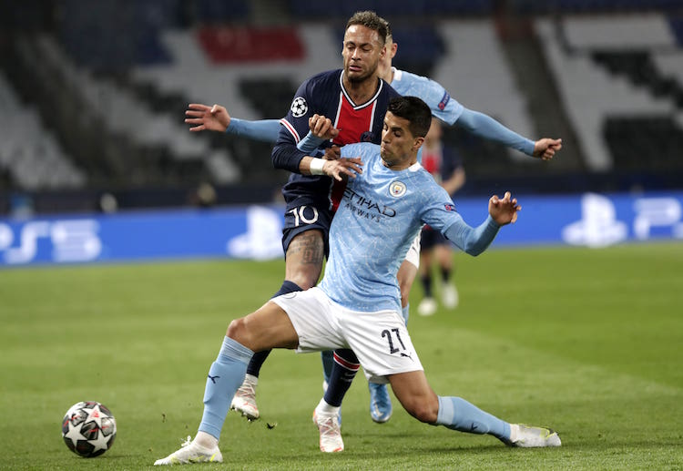 Riyad Mahrez scored the deciding goal for Manchester City in the first-leg of the Champions League semi-finals.