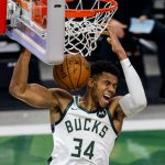 Giannis Antetokounmpo gears up ahead of Bucks' NBA Playoffs game 3 against the Miami Heat