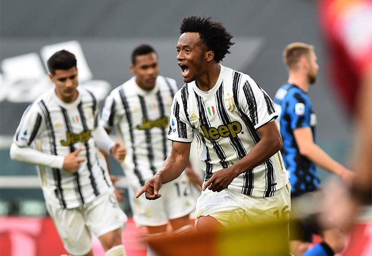 Juan Cuadrado is the man of the match for Juventus during their Serie A match against Inter Milan
