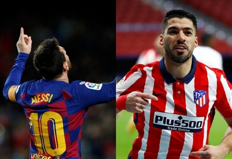 Lionel Messi's Barcelona and Luis Suarez's Atletico Madrid wll go head to head at Camp Nou on Saturday.