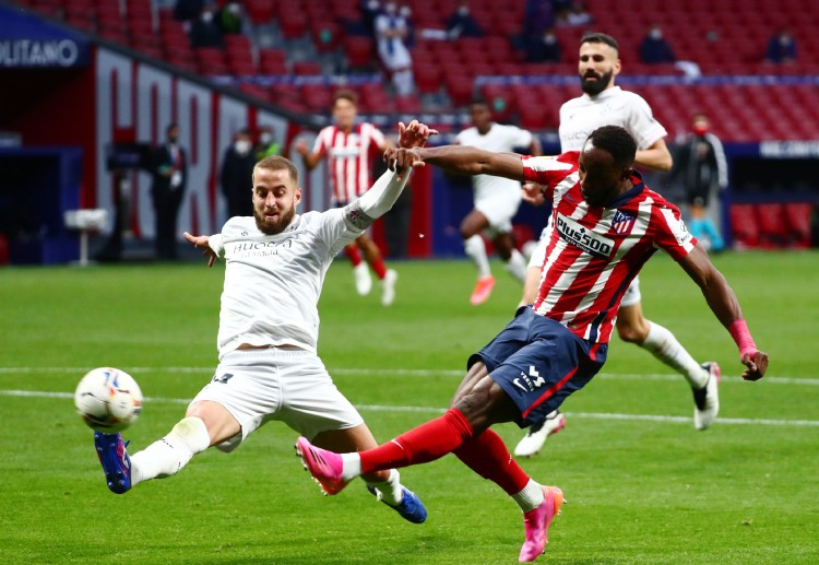 Atletico Madrid's Moussa Dembele has not yet scored a goal in La Liga this season