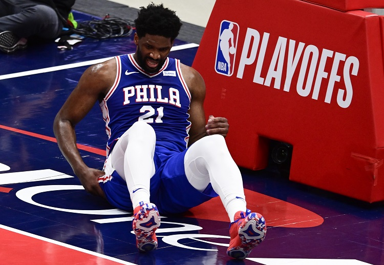 Joel Embiid's exit early during the NBA playoffs due to injury
