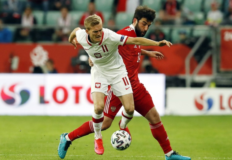Russia manage to equalise the score against Poland in International Friendly