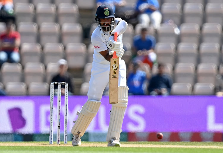 Cheteshwar Pujara bats at number three in the Indian Test team.